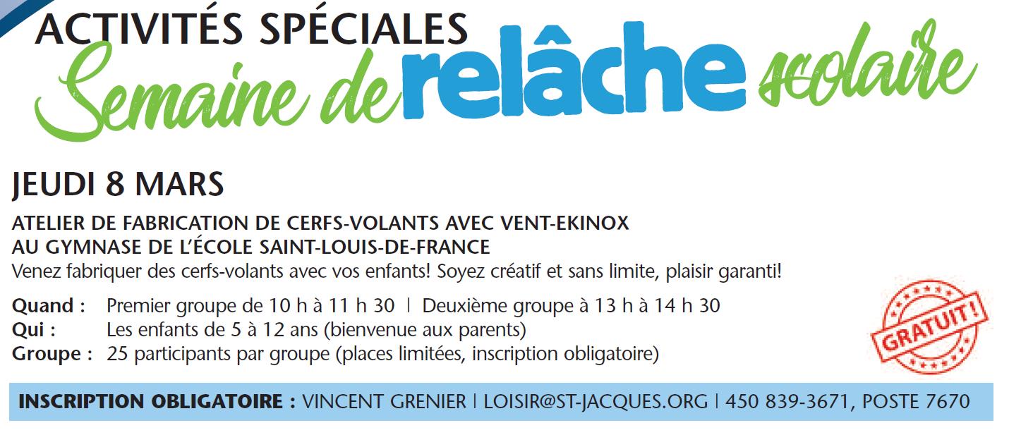 Atelier de fabrication de cerfs-volants avec Vent-Ekinox @ Gymnase de l'école Saint-Louis-de-France