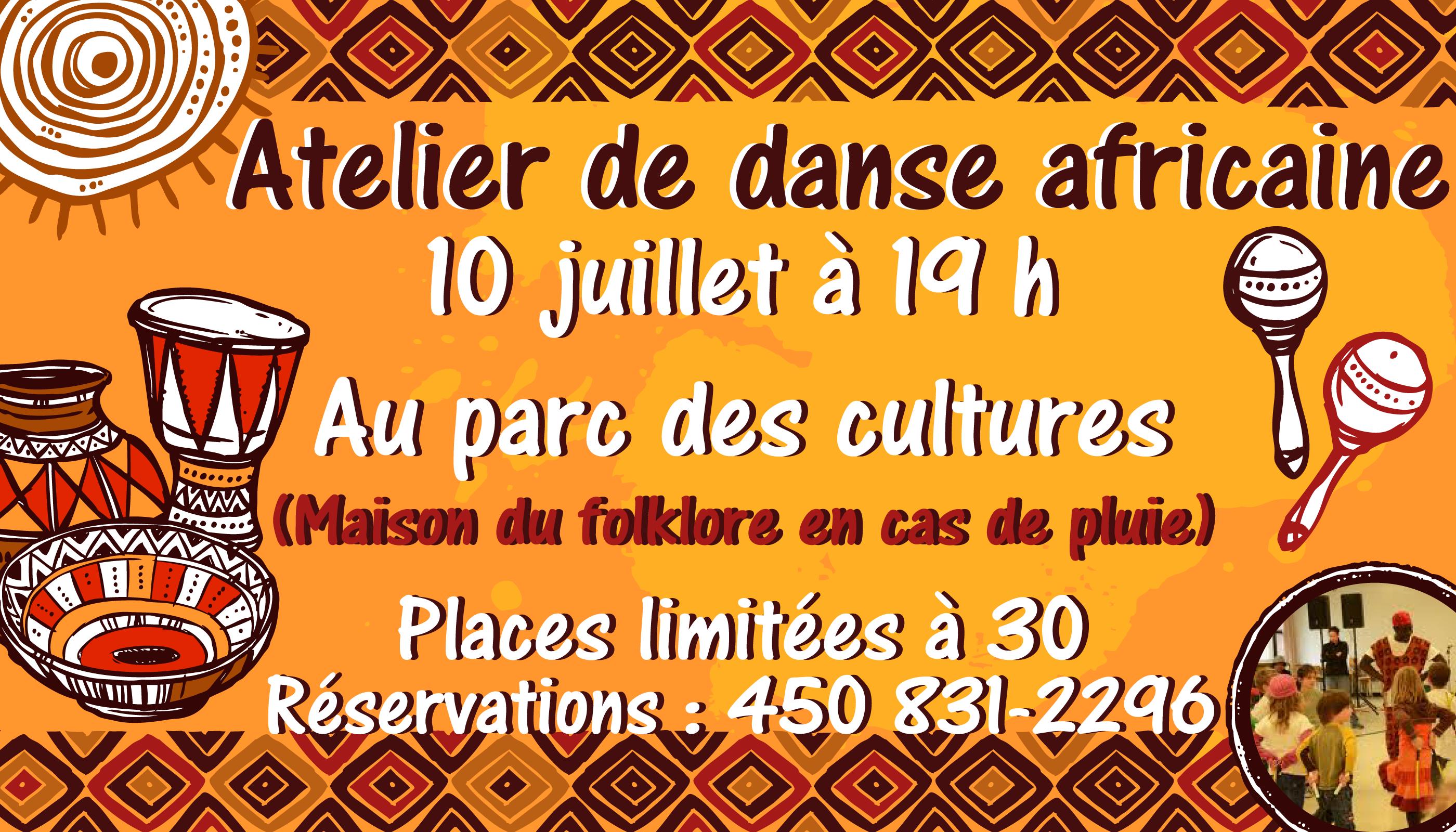 Symposium de danse   Atelier de danse africaine @ Parc des cultures