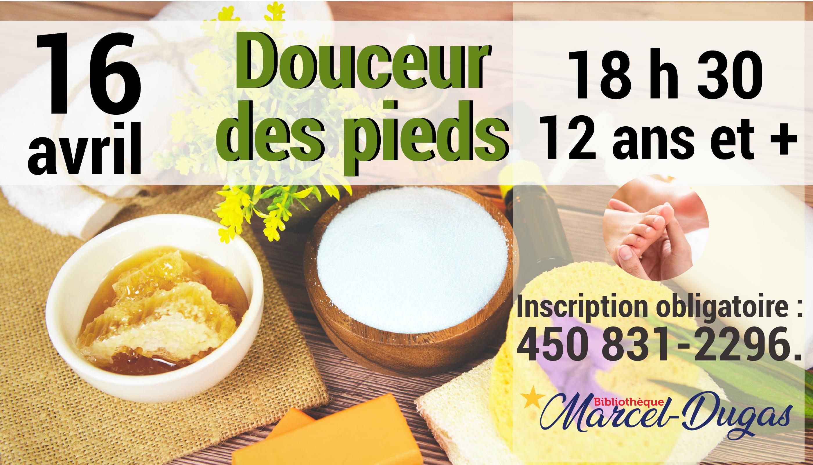 Douceur des pieds @ Bibliothèque Marcel-Dugas